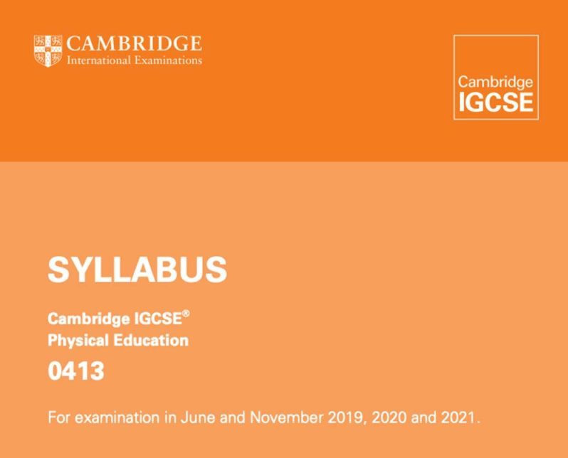 2019-21 IGCSE PE Syllabus
